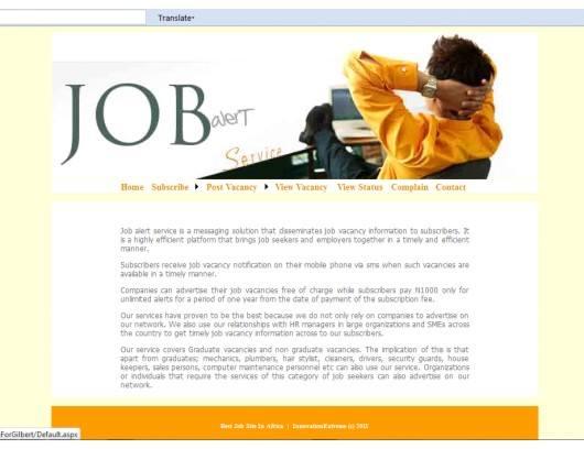 Job Alert System