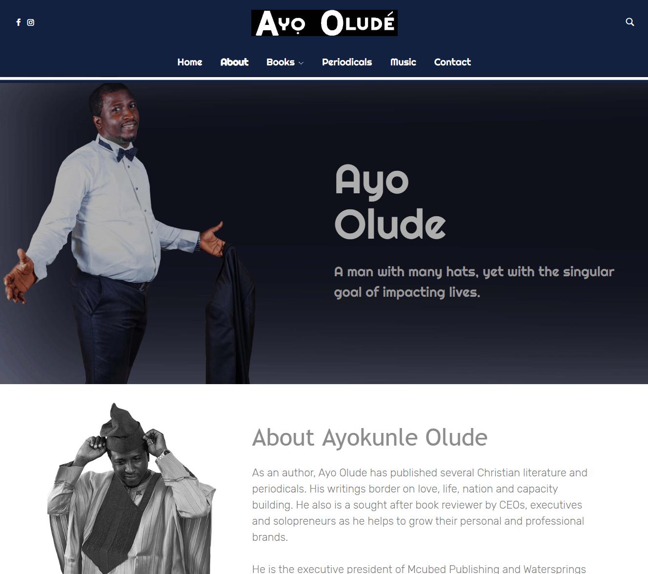 Dr. Ayo Olude Web design